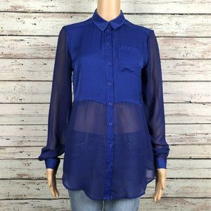 Free People Best Of Both Worlds Button Up Shirt